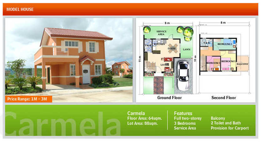 Terraces woodberry model houses camella homes the trusted brand - Camella homes design with floor plan ...